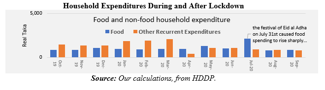 Household Expenditures During and After Lockdown