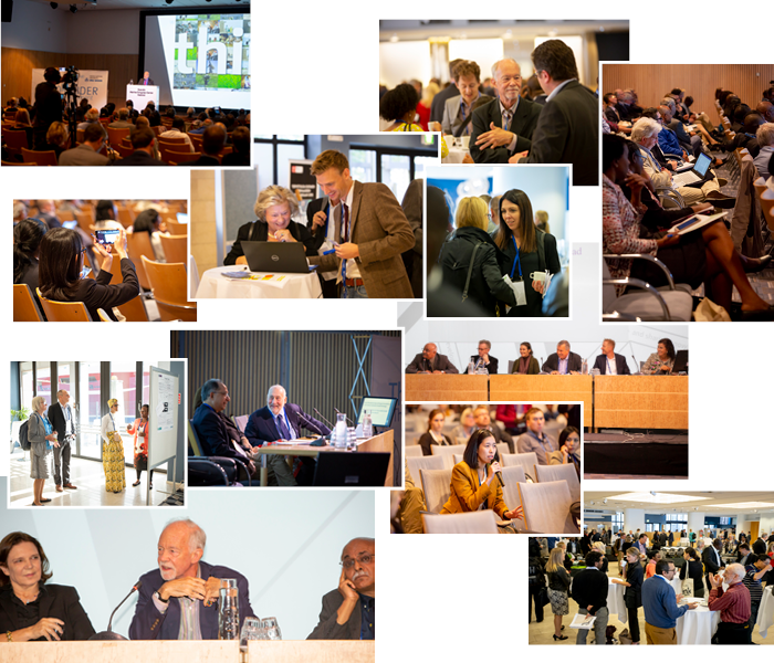 Photo collage from the Think development – Think WIDER conference.