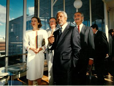 Kofi Annan visits UNU-WIDER