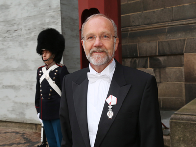 Queen Margrethe II of Denmark honored Finn Tarp, Director of UNU-WIDER,  with the Order of the Dannebrog. The ceremony took place in Denmark on 14 December 2015. Photo: Klaus Møller