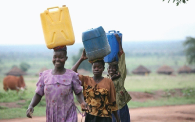 Women carrying water from a borehole in northern Uganda. Photo: IRIN
