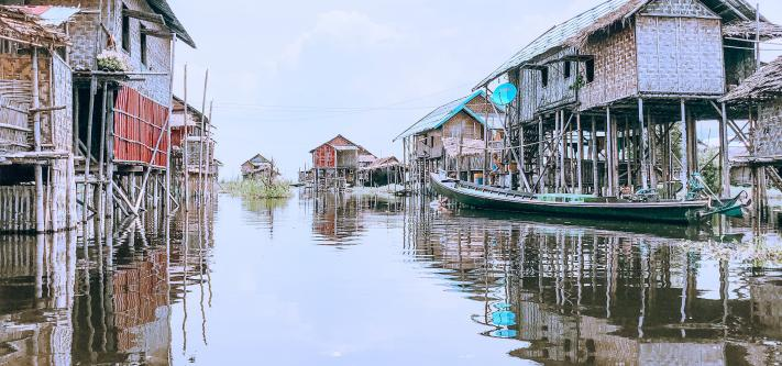 Unsplash houses on water