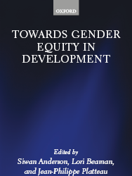 Book - Towards Gender Equity in Development