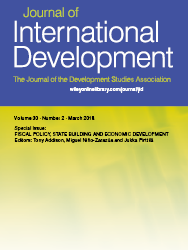 Journal Special Issue: Fiscal Policy, State Building and Economic Development