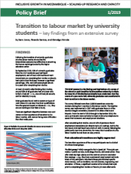 Policy Brief 1/2019 - Transition to labour market by university students - key findings from an extensive survey