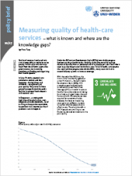 Policy Brief 10/2017 – Measuring quality of health-care services