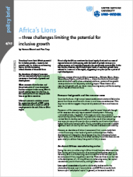 Policy Brief 4/2017 - Africa's Lions: three challenges limiting the potential for inclusive growth