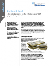 Policy Brief 8/2017 – Aid is not dead: latest evidence on the effectiveness of ODA