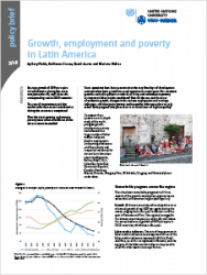 Policy Brief 3/2018 – Growth, employment and poverty in Latin America