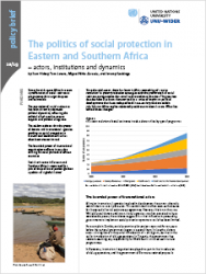 Policy Brief 10/2019 – The politics of social protection in Eastern and Southern Africa – actors, institutions and dynamics