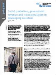 Policy Brief 6/2019 - Social protection, government revenue and microsimulation in developing countries