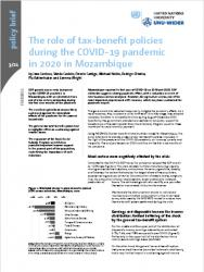 WIDER Policy Brief 3/2021 - The role of tax-benefit policies during the COVID-19 pandemic in 2020 in Mozambique