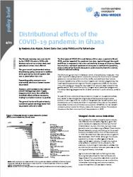 WIDER Policy Brief 4/2021 - Distributional effects of the COVID-19 pandemic in Ghana