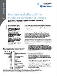 WIDER Policy Brief 5/2021 - Distributional effects of the COVID-19 pandemic in Uganda