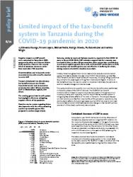 WIDER Policy Brief 6/2021 - Limited impact of the tax-benefit system in Tanzania during the COVID-19 pandemic in 2020