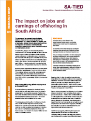 SA-TIED Research Brief: The impact on jobs and earnings of offshoring in South Africa