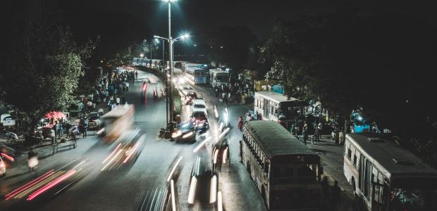 Busy city street Unsplash