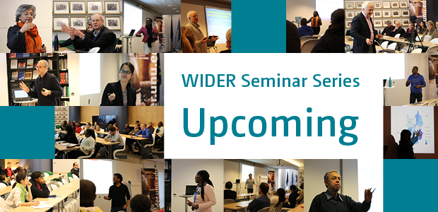 WIDER Seminar Series: Upcoming