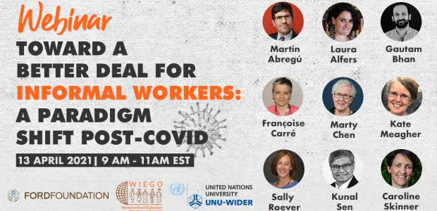 Poster WIEGO event on informal workers and COVID-19