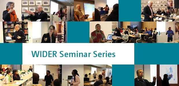 WIDER Seminar Series