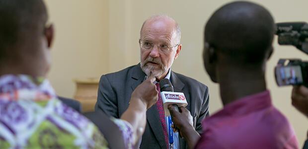 Finn and reporters Ghana